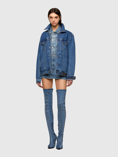 Diesel - DE-EISY, Light Blue - Skirts - Image 5
