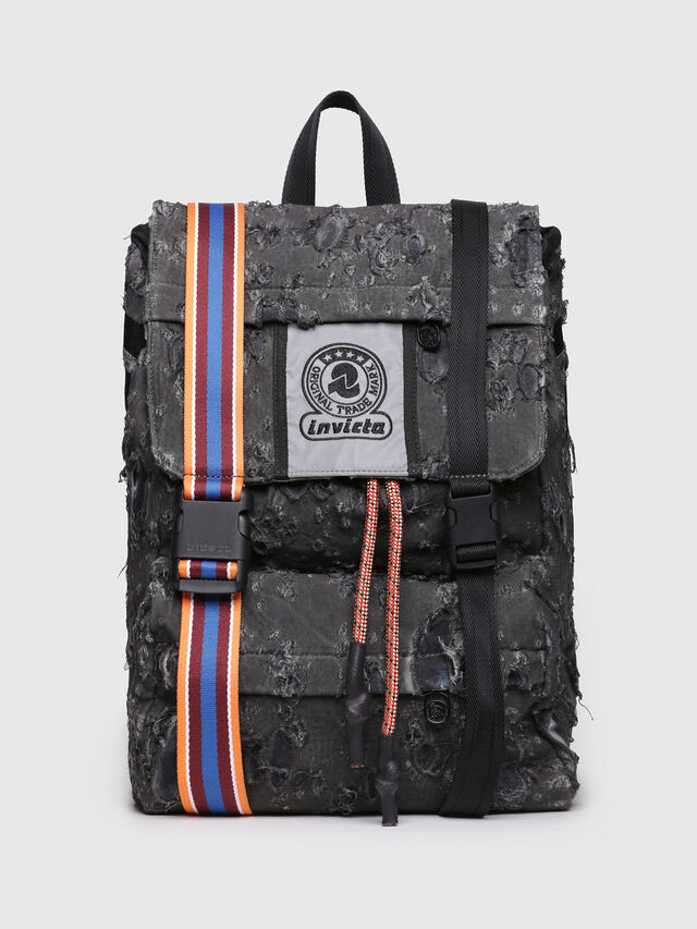 Diesel - M-INVICOLAB BACK III, Black - Backpacks - Image 1