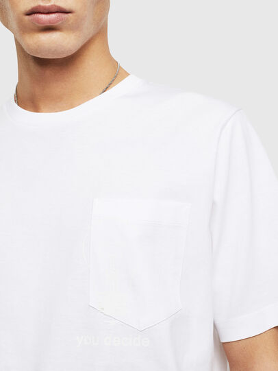 Diesel - T-JUST-POCKET-T17, White - T-Shirts - Image 3