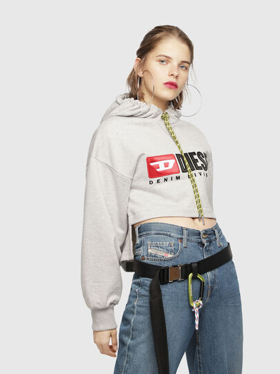 Diesel - F-DINIE-A, Light Grey - Sweaters - Image 1
