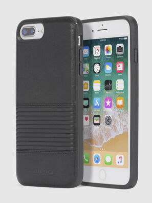 BLACK LINED LEATHER IPHONE 8/7/6s/6 CASE,  - Cases