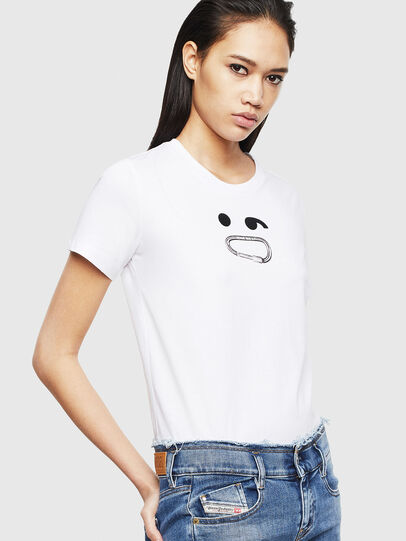 Diesel - T-SILY-S8, White - T-Shirts - Image 4