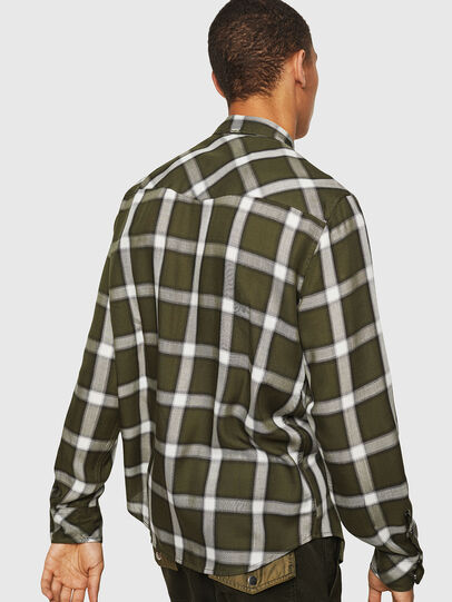 Diesel - S-EAST-LONG-XA, Dark Green - Shirts - Image 2