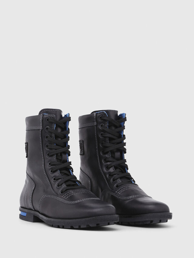 Diesel - D-OGTAG OXB LACE W, Opaque Black - Ankle Boots - Image 2