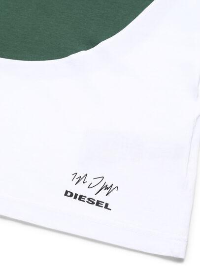 Diesel - D-SHIELD-GREEN, White - T-Shirts - Image 3