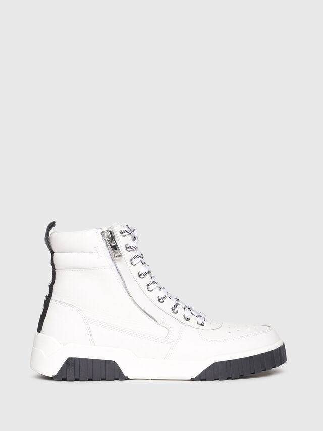 Diesel - S-RUA MC W, White - Sneakers - Image 1