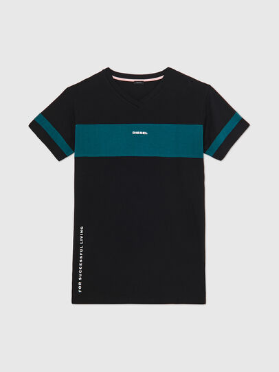Diesel - UFTEE-CHEERLY, Black/Blue - T-Shirts - Image 1