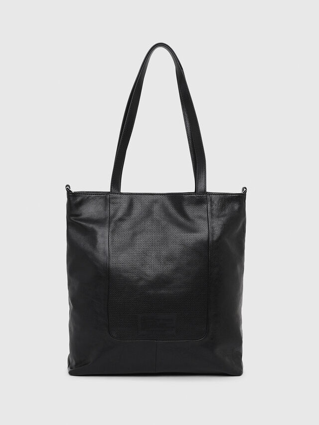 Diesel - L-TOLLE SHOPPER E/W, Black - Shopping and Shoulder Bags - Image 2