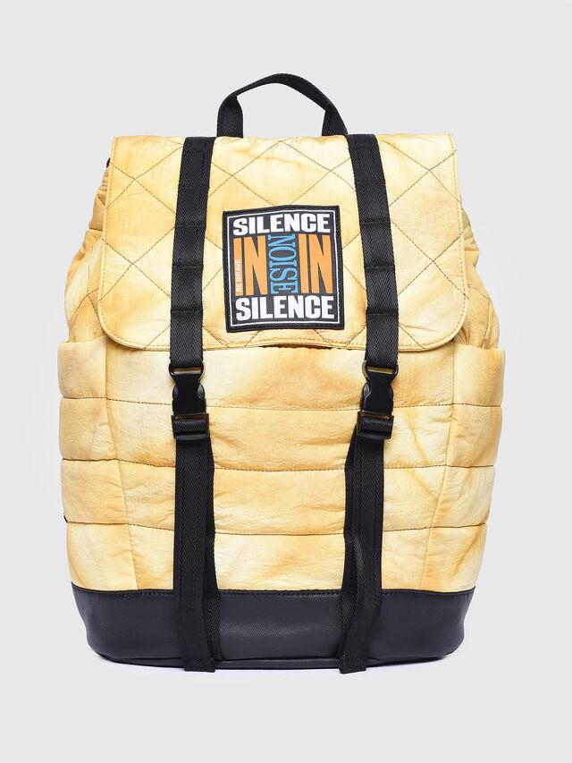 Diesel - F-HEYODA BACK L, Yellow - Backpacks - Image 1
