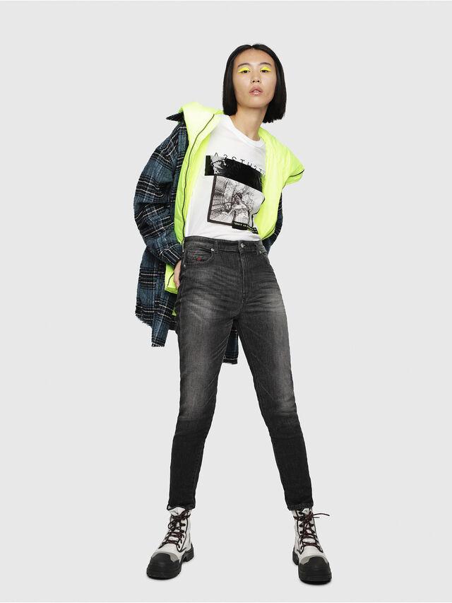 Diesel - Babhila High 089AA, Black/Dark grey - Jeans - Image 4