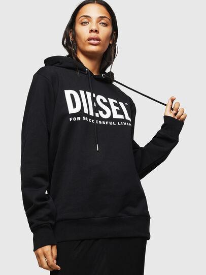 Diesel - F-GIR-HOOD-DIV-LOGO-, Black - Sweaters - Image 1
