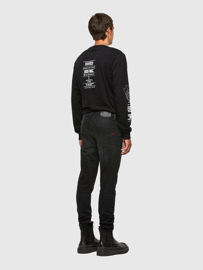 Diesel - T-JUST-LS-N61, Black - T-Shirts - Image 5