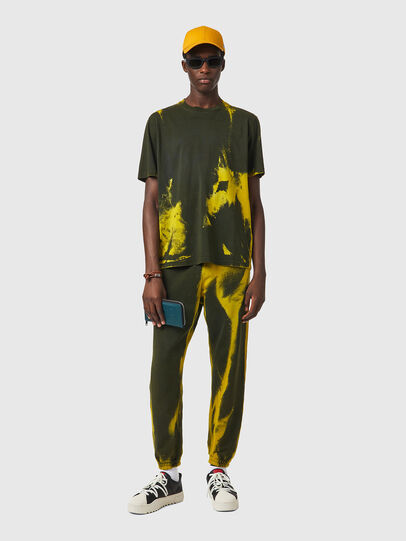 Diesel - T-JUST-B84, Green/Yellow - T-Shirts - Image 5