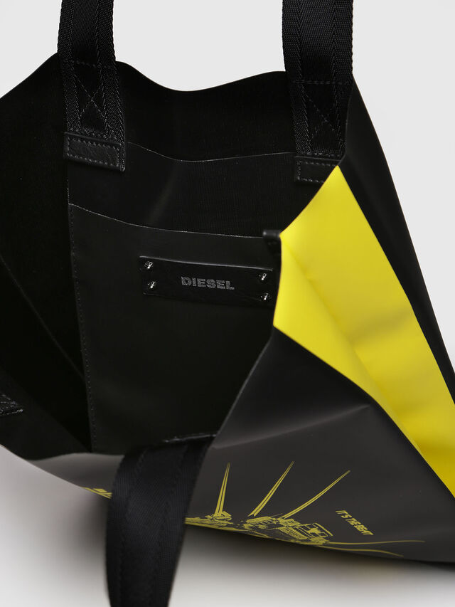 Diesel - F-BILLBOARD SHOPPER, Black/Yellow - Shopping and Shoulder Bags - Image 3