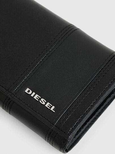 Diesel - 24 A DAY, Black - Continental Wallets - Image 5