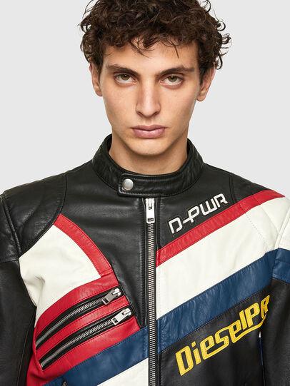 Diesel - L-POWER, Black/White - Leather jackets - Image 3