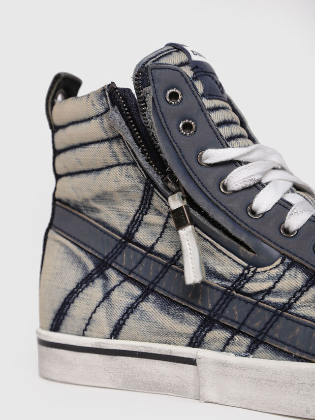 Diesel - D-VELOWS MID LACE, Blue Jeans - Sneakers - Image 4