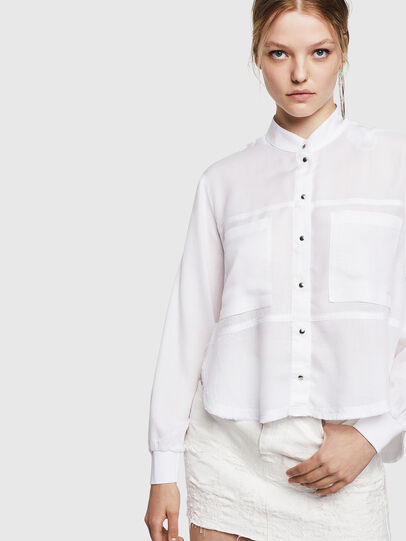 Diesel - C-SUPER-E, White - Shirts - Image 4