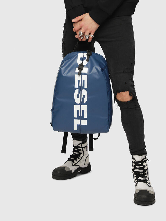 Diesel - F-BOLD BACK, Blue/White - Backpacks - Image 5