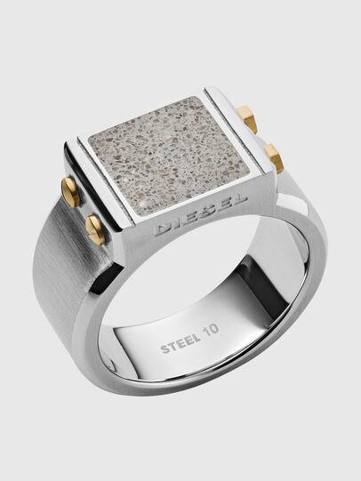 Diesel - DX1195, Silver - Rings - Image 1