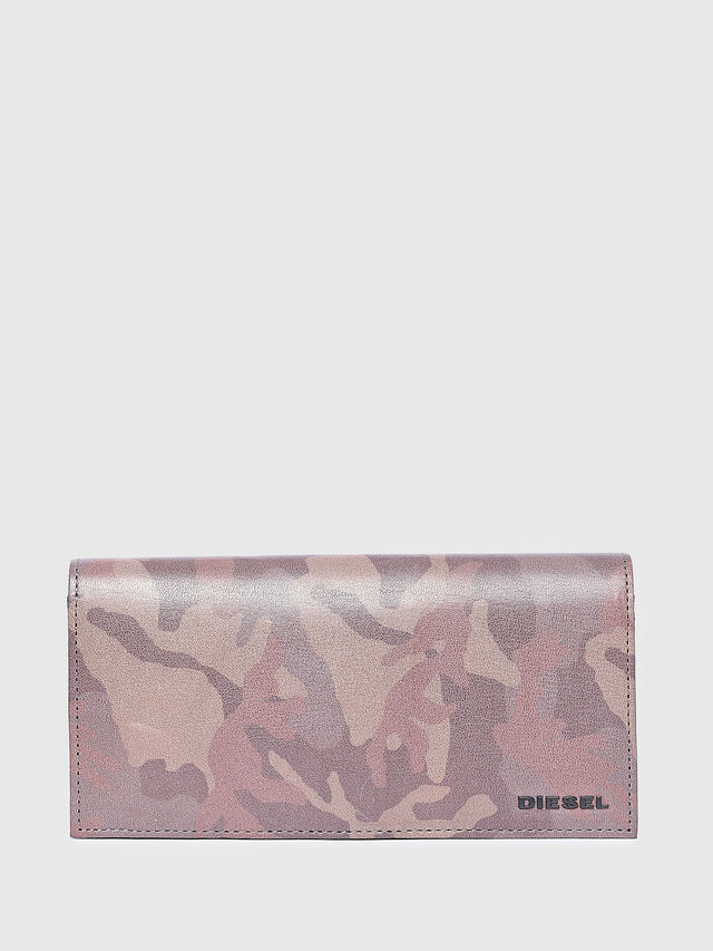 Diesel - 24 A DAY, Light Brown - Continental Wallets - Image 1
