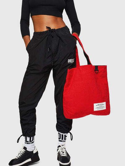 Diesel - F-THISBAG SHOPPER NS, Fire Red - Shopping and Shoulder Bags - Image 8
