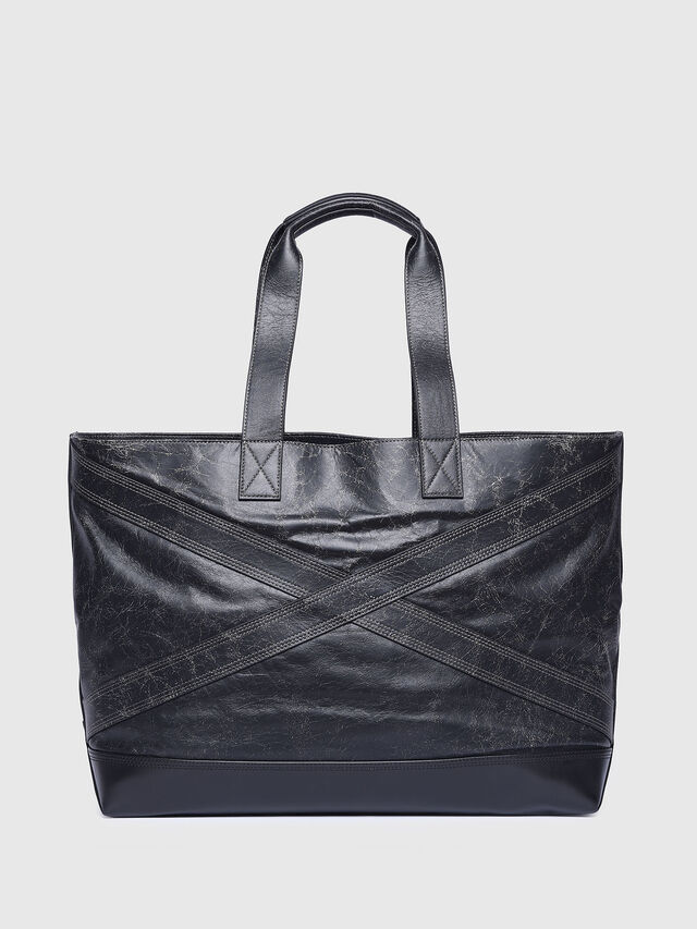Diesel - L-BLAID RANNER SHOPP, Black Leather - Shopping and Shoulder Bags - Image 2