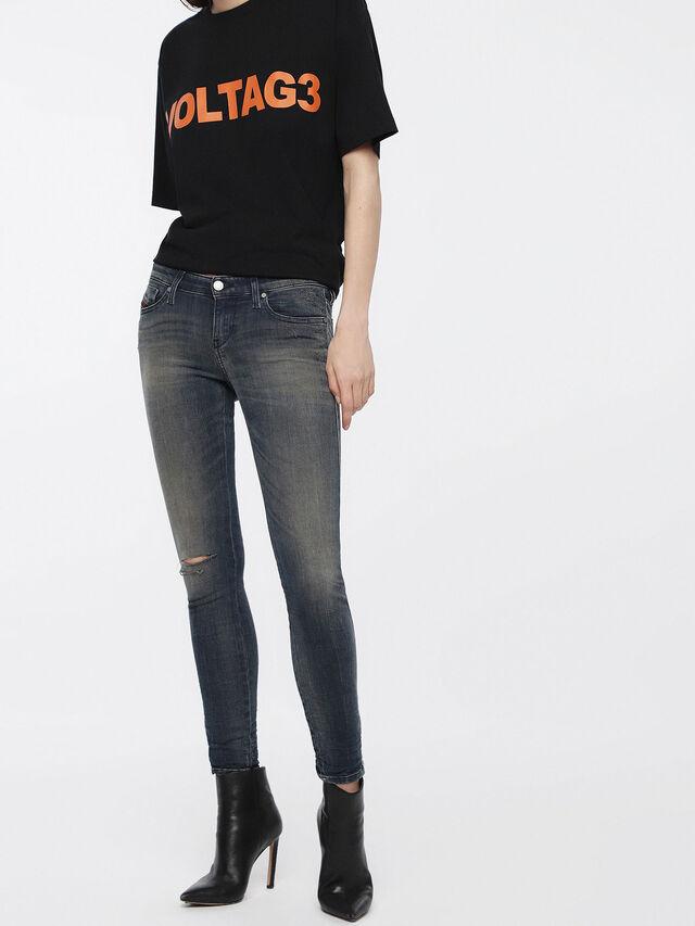 Diesel - Skinzee Low Zip 084XF, Dark Blue - Jeans - Image 1
