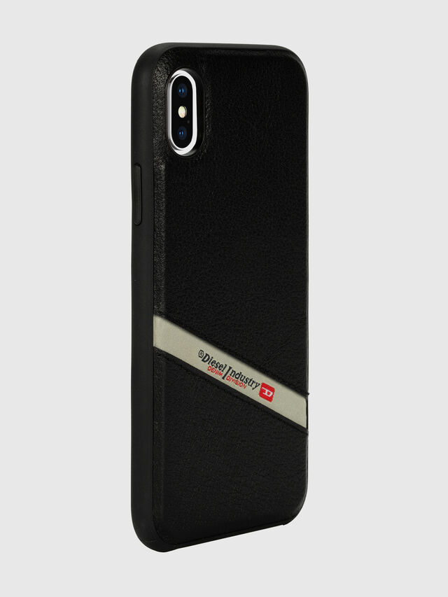 Diesel - DIESEL LEATHER CO-MOLD CASE FOR IPHONE XS MAX, Black - Cases - Image 6