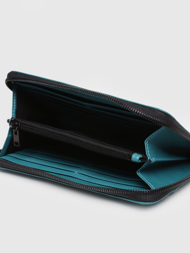 Diesel - GRANATO, Water Green - Zip-Round Wallets - Image 3