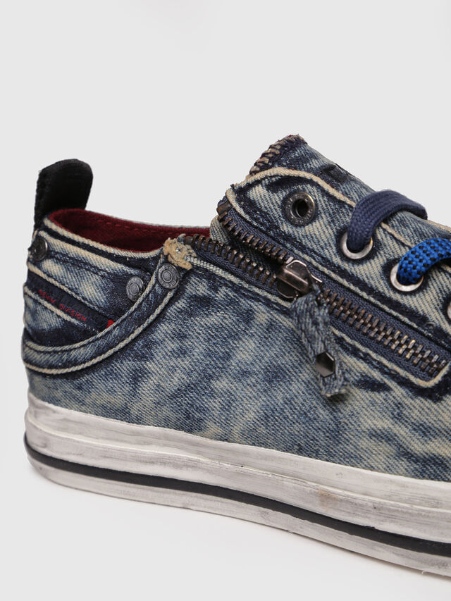 Diesel - EXPO-ZIP LOW W, Blue Jeans - Sneakers - Image 4