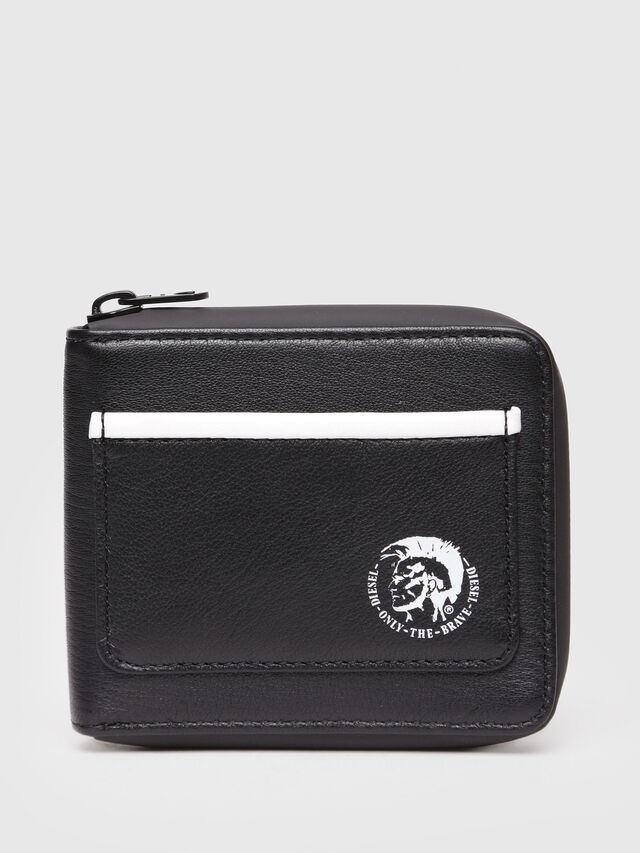 Diesel - ZIPPY HIRESH S, Black/White - Small Wallets - Image 1