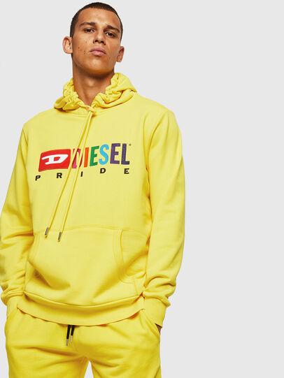 Diesel - S-GIR-HOOD, Yellow - Sweaters - Image 1