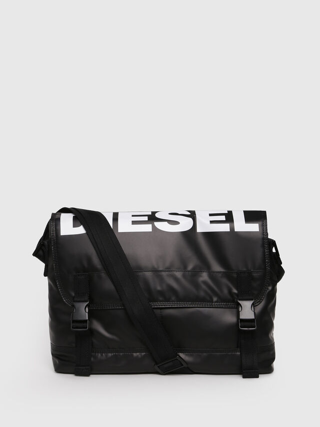 Diesel - F-BOLD MESSENGER, Black - Crossbody Bags - Image 1