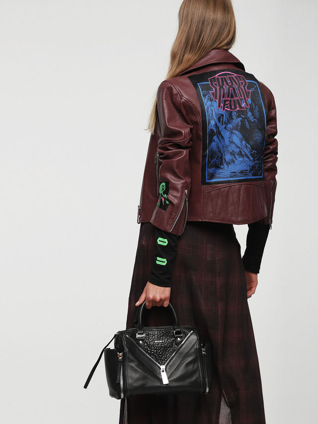 Diesel - LE-TRASY, Black Leather - Satchels and Handbags - Image 6