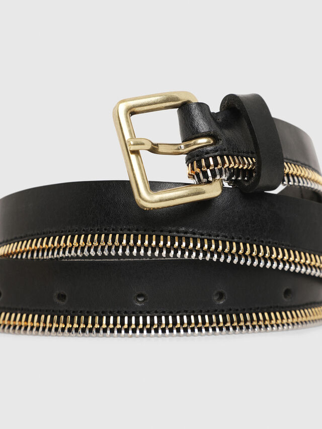 Diesel B-ZIPPER, Black - Belts - Image 2