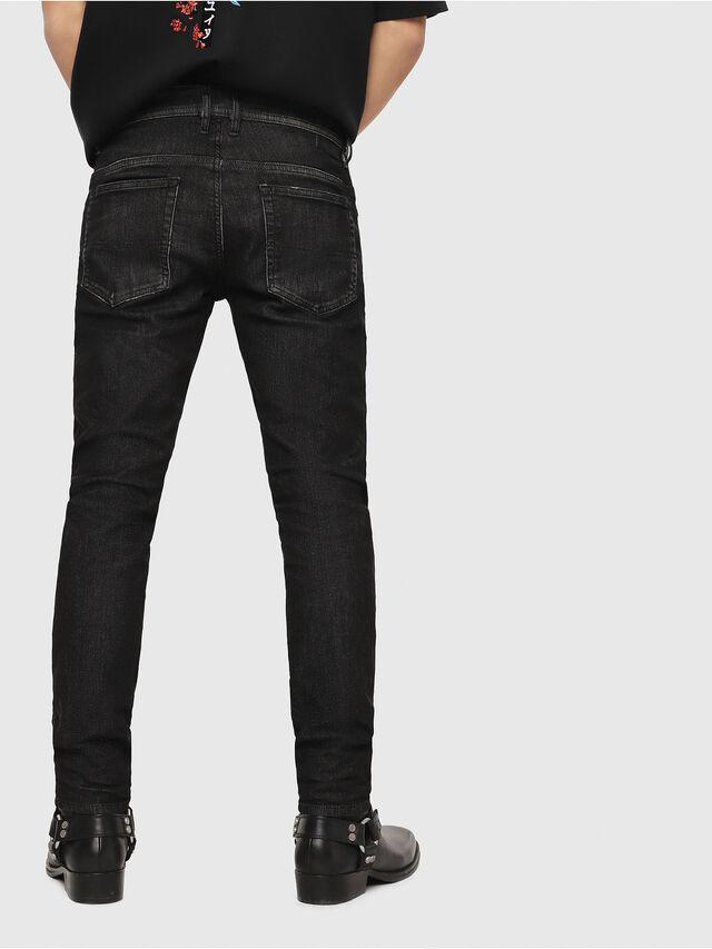 Diesel - Thommer JoggJeans 0077U, Black/Dark grey - Jeans - Image 2
