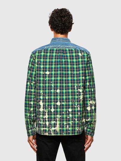 Diesel - S-MOON-CHECK, Green - Shirts - Image 2