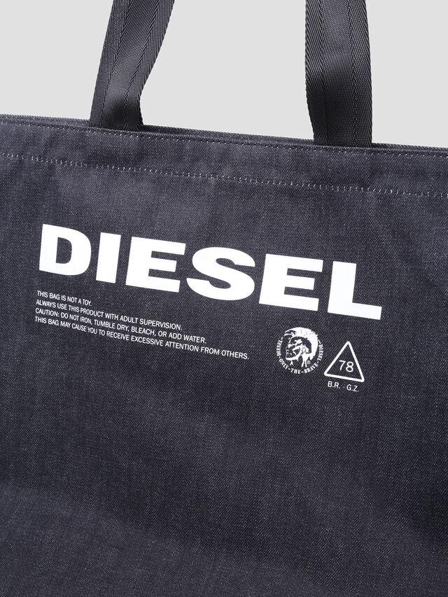 Diesel - D-THISBAG SHOPPER L, Blue Jeans - Shopping and Shoulder Bags - Image 3
