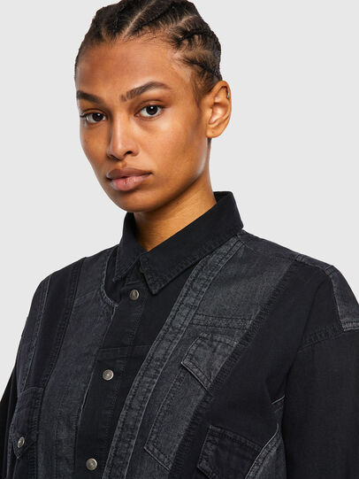 Diesel - DE-RINGLE, Black - Denim Shirts - Image 5