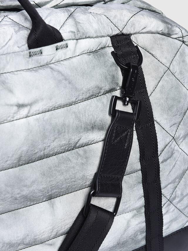 Diesel - F-HEYODA DUFFLE, Silver - Travel Bags - Image 4
