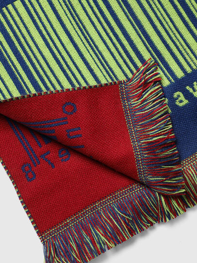 Diesel - S-BARCODE, Blue/Green - Scarf - Image 2