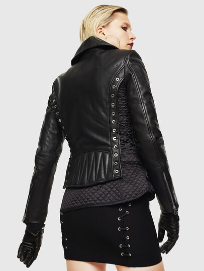 Diesel - L-CARAMA, Black - Leather jackets - Image 2