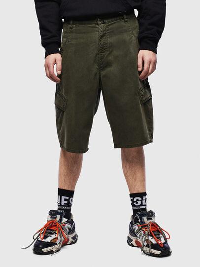 Diesel - D-KRETT-SHORT JOGGJEANS, Military Green - Shorts - Image 1