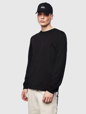 T-HUSTY-LS, Black - T-Shirts
