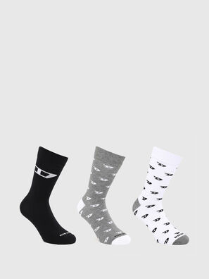 SKM-RAY-THREEPACK, Grey/White - Socks