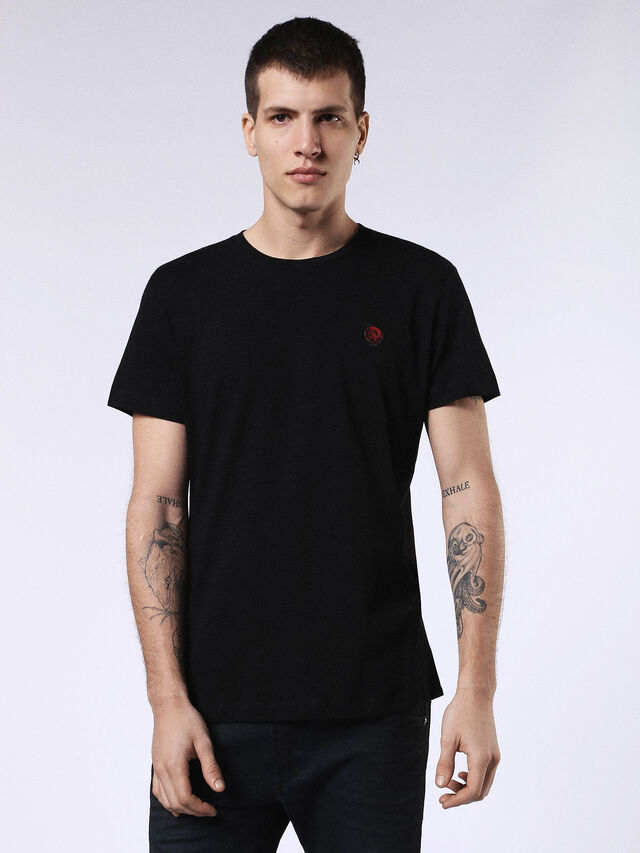 Diesel - DVL-T-SHIRT-ML-RE, Black - T-Shirts - Image 1