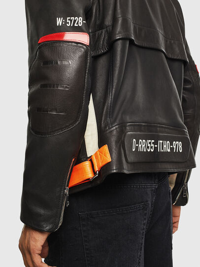 Diesel - L-DIXON, Black - Leather jackets - Image 7