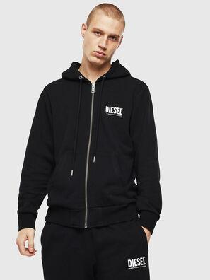 S-GIRK-HOOD-ZIP-LOGO, Black - Sweaters