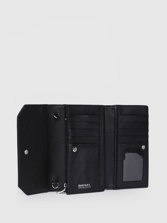 Diesel - GIPSI, Black Leather - Small Wallets - Image 3